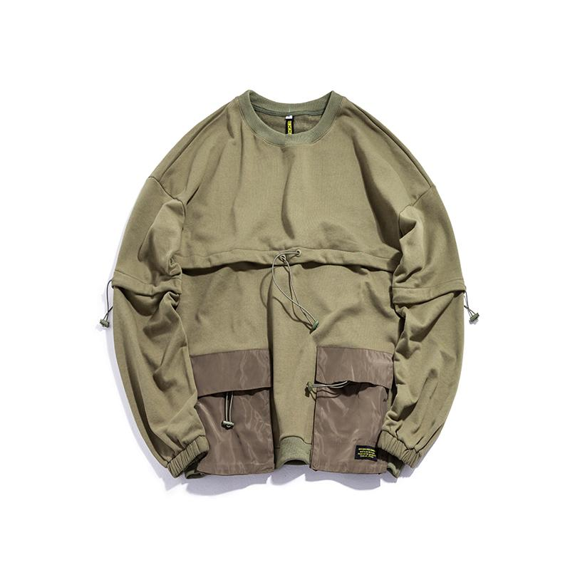 2019 autumn new jacket Japanese fashion brand loose men's windproof youth student stand collar hip hop Japan Style Army Green