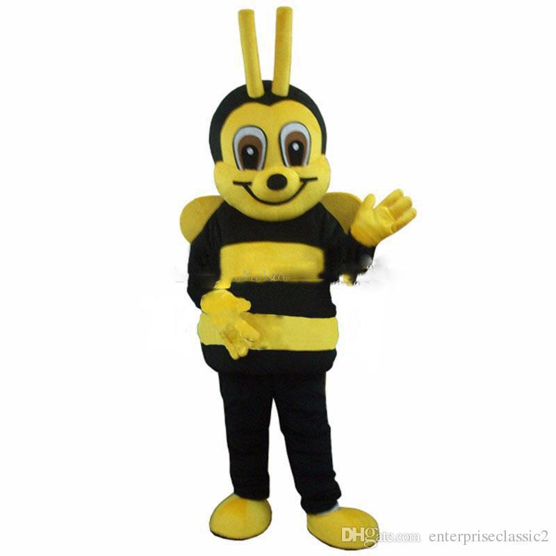 Traje adulto de la mascota de la abeja de la alta calidad 2018 para el envío libre del festival / del partido