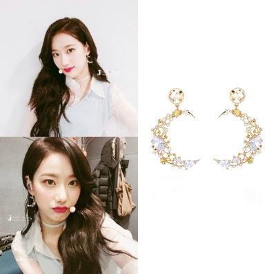 descubrimiento accidental de la luna coreana dramas de televisión al día gota para el oído de moda elegante para los pendientes de las mujeres pendientes Brincos ornamento