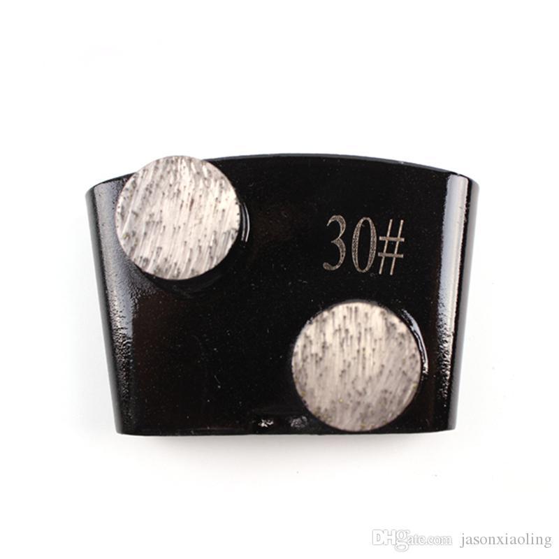 KD-H40 Grinding Long Lifespan HTC Diamond Grinding Shoes Diamond Grinding Disc with Two Segments for Concrete Floor Renovation 12PCS