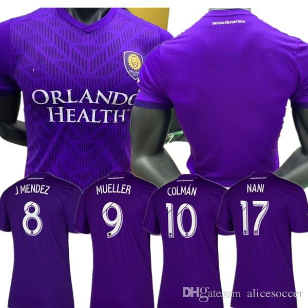 best service 903d2 9a174 2019 ^_^2019 MLS Orlando City Soccer Jerseys #17 NANI Orlando City Home  Purple Soccer Shirt 2019 #8 J.MENDEZ Football Uniform Size S XXL From ...