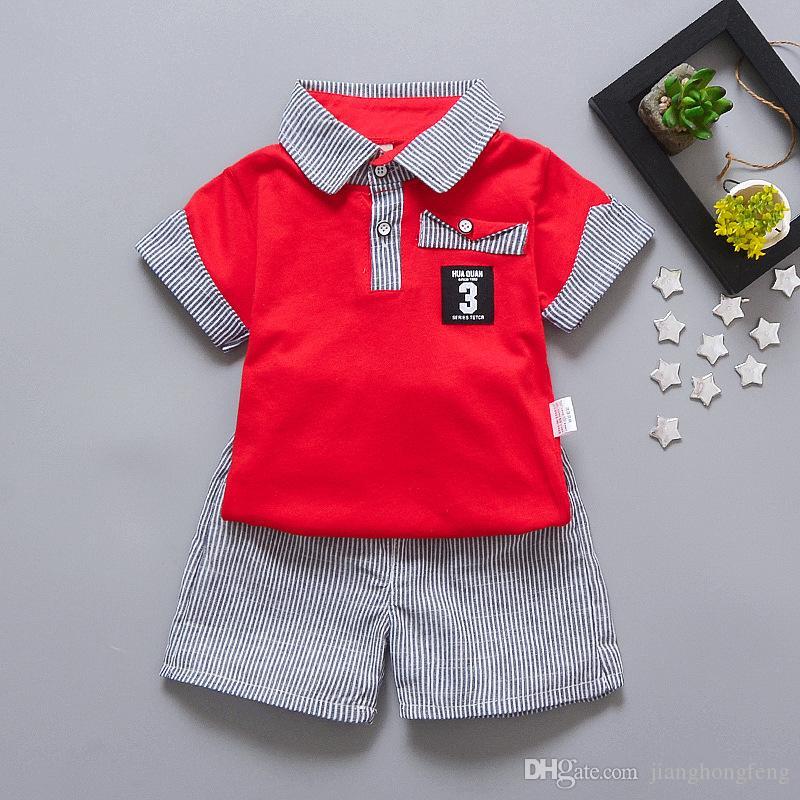 2020 Нового стиль BOY'S костюм Summer Wear Женского младенец ДЕТСКАЯ одежды Одежда для новорожденных 1-2-3-Year-Old Summer Wear корейского стиля