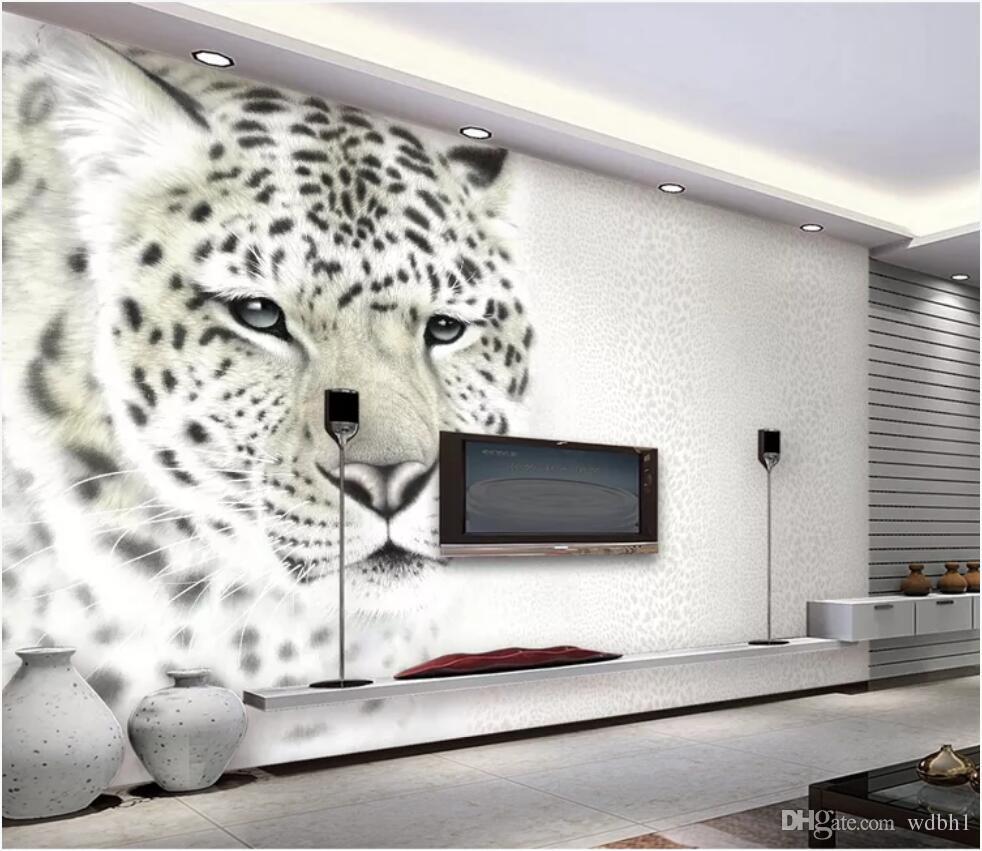 3d Room Wallpaper Custom Photo Non Woven Mural Modern Fashion Leopard Print Leopard Living Room Tv Background Wall Wallpaper For Walls 3 D Free