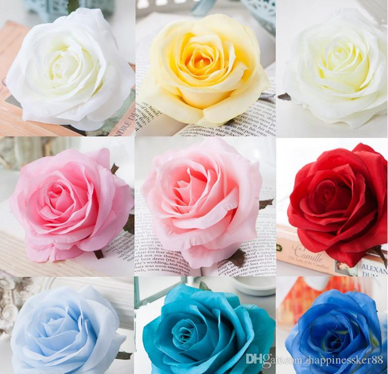 10PCS Silk Rose Flower Head Artificial Decorative Flower Heads For Home Garden Wedding Birthday Party Decoration Supplies