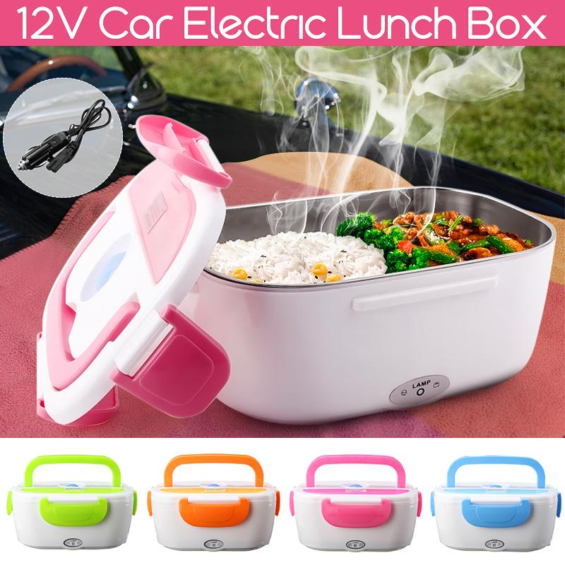12V Multi-functional Lunch Box Car Portable Electric Heated Heating Bento Outdoor School Home Food-Grade Food Warmer Container C18112301