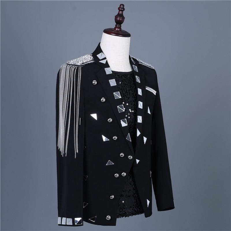 Palcoscenico usura cantante maschio costumi delle lenti dei nuovi uomini di personalizzati Cantante maschio costumi del rivestimento del vestito