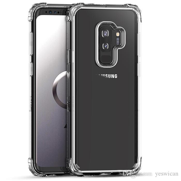 Coque IPaky Pour Samsung Galaxy S9 Plus Couverture Arrière Transparente S9 Haute Transparent PC TPU Étui Rigide Anti Baisses Avec Paquet Stock ...
