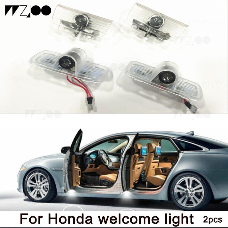 Araba Kapı LED Logo Projektör Hayalet Gölge Işıkları Hoşgeldiniz Lamba Acura Honda Civic CourtesyFor Acura MDX 07-17 için Kolay Kurulum