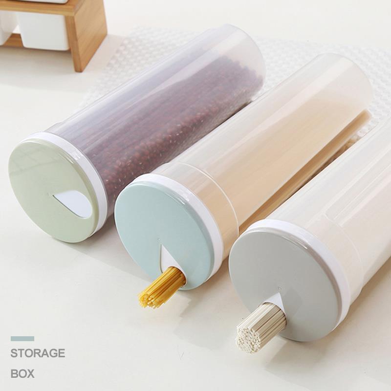 3 Renk Makarna Erişte Mutfak Tank Depolama Şişe Tatlı Rice Tahıl Bean Toplama Kutusu Pratik Çok Amaçlı Mühürlü
