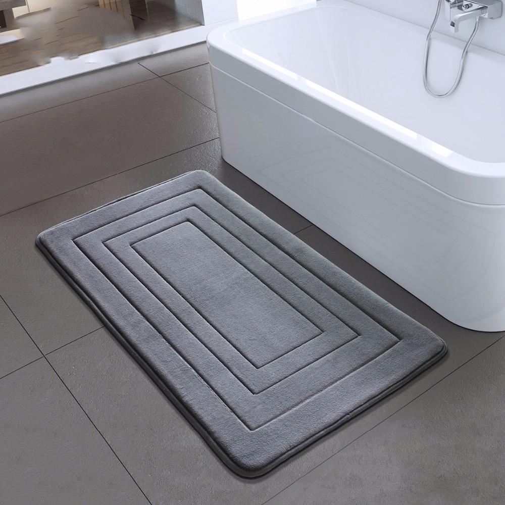 Stuoia di bagno di alta qualità Bagno Camera antiscivolo Mats Schiuma Tappeto doccia tappeto per Bagno Cucina Camera 40x60cm 50x80cm