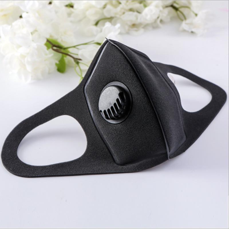 In 50pcs azione! Antipolvere Maschera di respirazione valvola spugna mascherina mascherine riutilizzabile lavabile anti-polvere Fog PM2.5 protezione del braccio