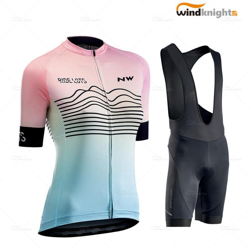 New Northwave 2020 Femmes d'été à manches courtes Cycle Jersey Set prosodie ligne VTT Wear uniforme respirer anti-UV Ropa Ciclismo