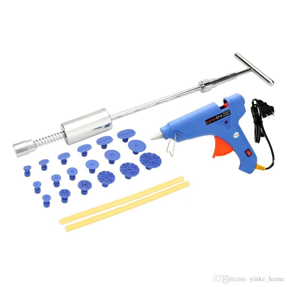 Hot Melt Клеевой пистолет с клеем Палочки молотком Puller Вкладки Электрические тепловые пушки для кузова автомобиля Dent Repair 100W США Plug