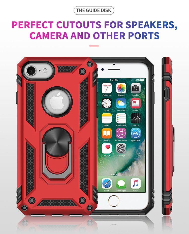 caso o titular anel de metal magnético tampa do telemóvel para o iPhone XS Super Defender Case telefone para Huawei P30 P20lite OPP