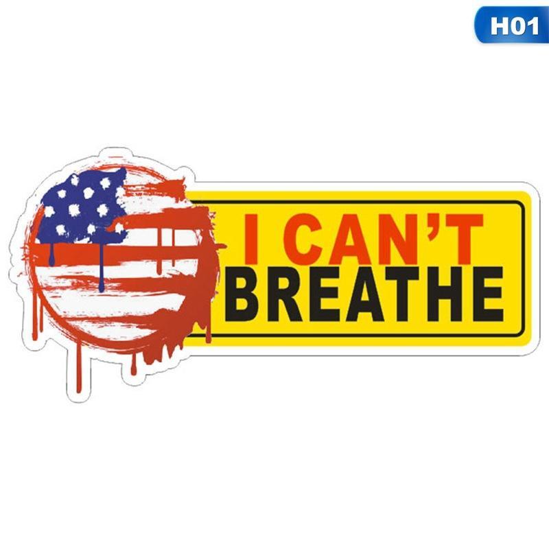 No puedo respirar PVC etiqueta auto-adhesivo etiqueta engomada del coche creativo adecuados para la ropa Portátiles pegatinas de pared decorativos nueva GGA3451