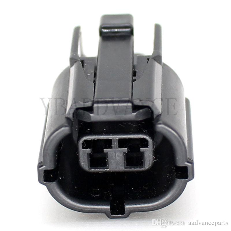 Black Female Electrical Automotive Amp 2 Pin Tyco Car Connector
