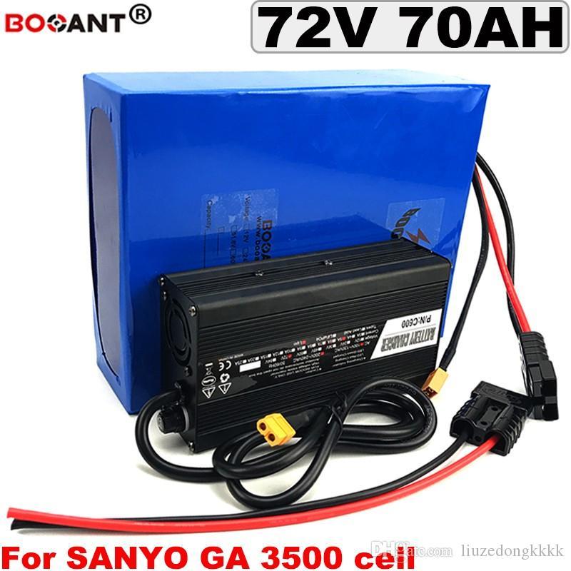 Batterie de vélo 60ah 60ah 72V Batterie de cuivre électrique 72V 72V 72V 72V 72V 72V pour Sanyo 18650 Cell