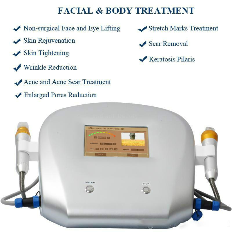 Thermage machine de levage fractionnelle de la peau RF Fractional RF Microneedle acné Enlèvement Soins de la peau de beauté machine 4 types de conseils