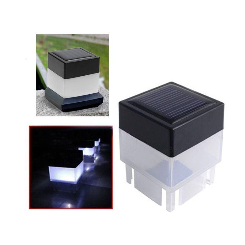 Outdoor Solar PAC post luce alimentata solare recinto protezione della luce a LED per esterno giardino Cortile lampada Pool