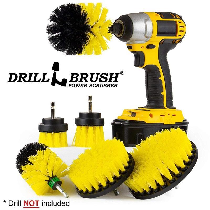Bohrmaschine Hairbrush Multifunktionsbürstenkopf Praktisches Reinigungsset für Elektrowerkzeuge Reinigen Sie den Boden Das Conduit Sofa 38yc k1