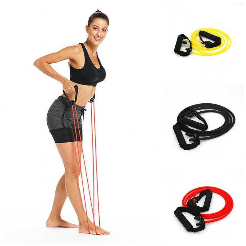 Multifuncional Yoga Resistência Banda Duplo Tubo Sports Supino Pedal exercitador Elastic Tração da corda Fitness Equipment Supplies 9dp5 E19