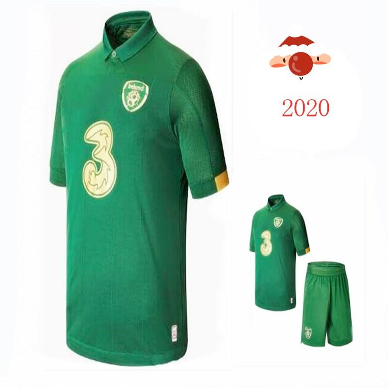 uzaklıkta Cumhuriyeti İrlanda Milli Takımı Tayland Kalite üniforma YENİ 19/20 İrlanda futbol forması ev MULLER CLARK çocuklar Futbol gömlek kiti