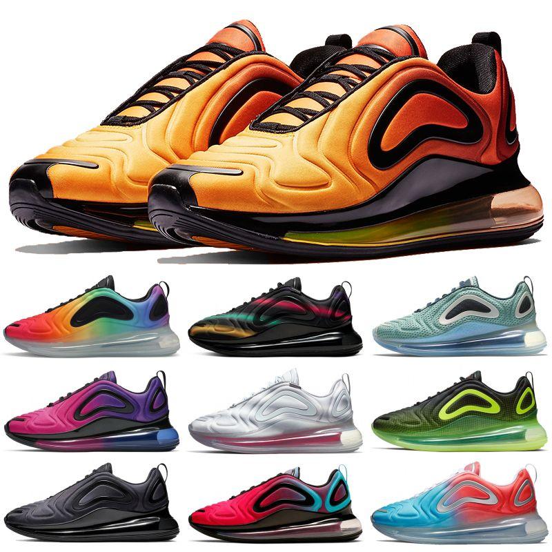 chaussures de course Hot vente 720OG unissent Laser Rose Triple Total noir métallisé sport Brerthable hommes en plein air formatrices Sneakers