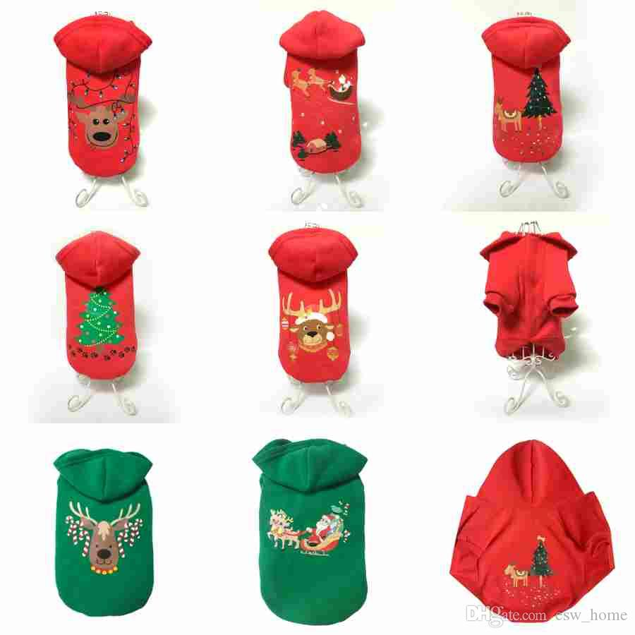 costume de chien pour animaux de compagnie vêtements d'hiver teddy bichon vêtements de chien de noël en coton 8 styles de décoration pour animaux de compagnie chien fournitures de mode