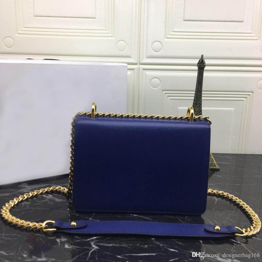 New Designer Mulher Pure couro bolsa de moda cadeia de luxo Crossbody Flap Bag pequeno saco de ombro de alta qualidade do couro genuíno Bolsa Tote