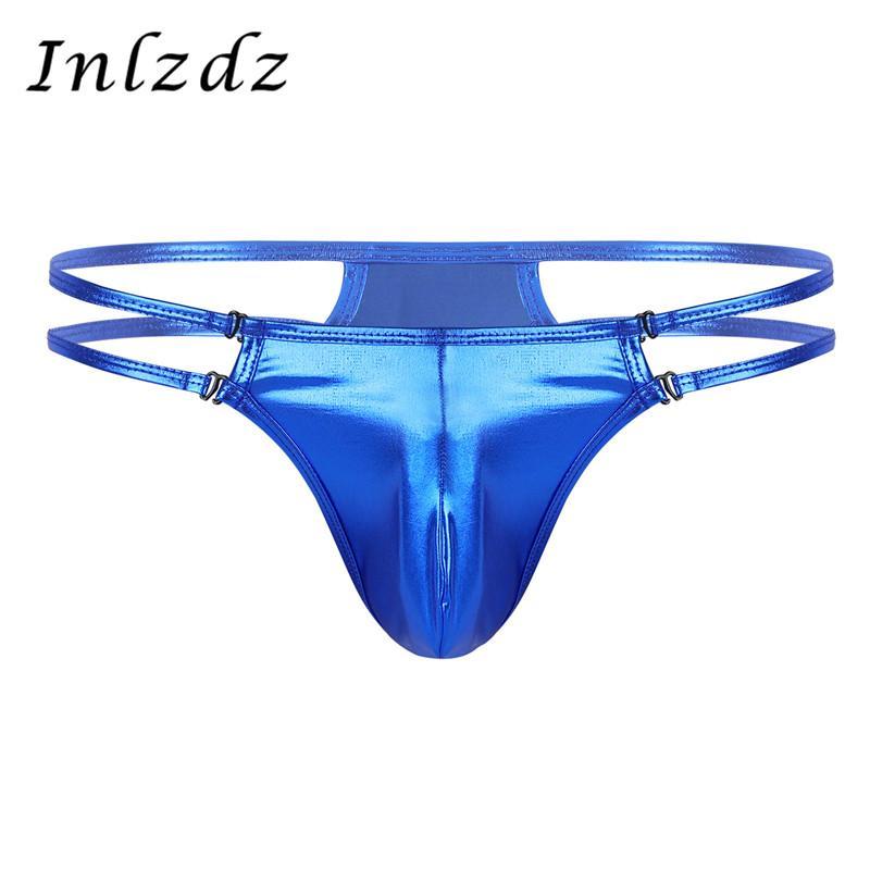 Men Lingerie Micro Thongs Underwear Bulge Pouch T-Back Bikini Briefs Jockstrap