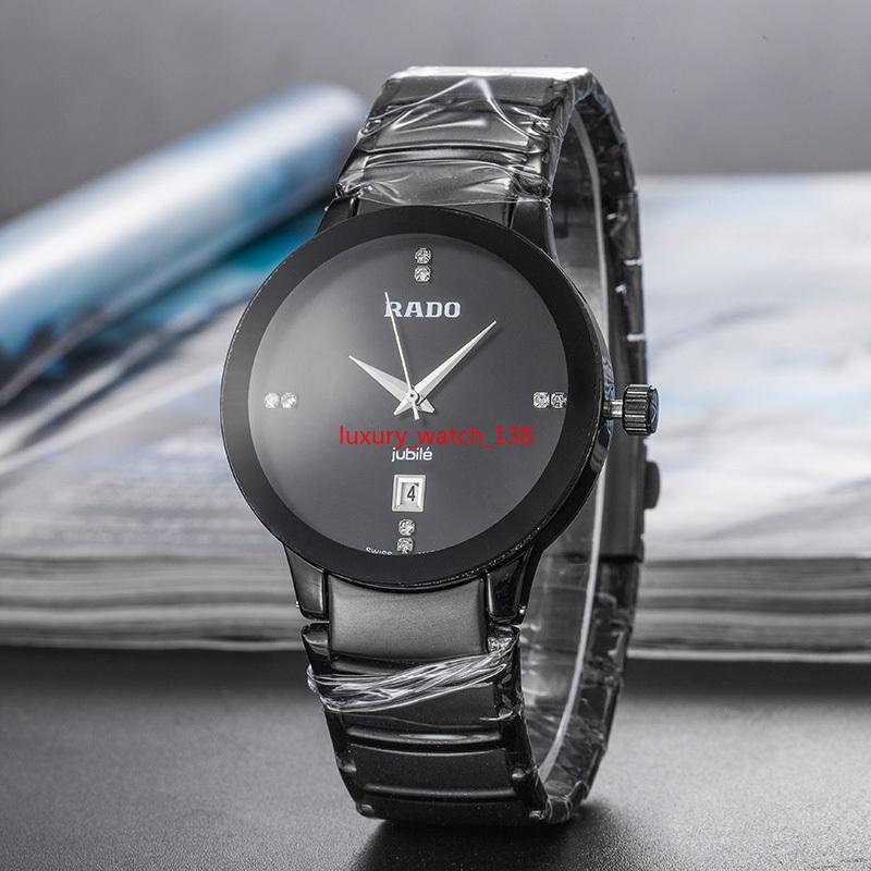 Mens watch fashion Brand nero blu oro acciaio inossidabile uomo orologi Ultra sottile calendario impermeabile Menwatch originale