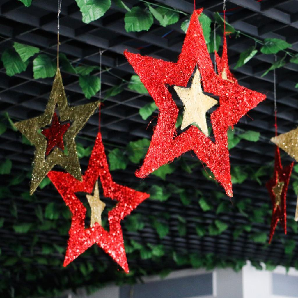 Twinkle Star Hanging Decor for Wedding Holiday Party Birthday Christmas