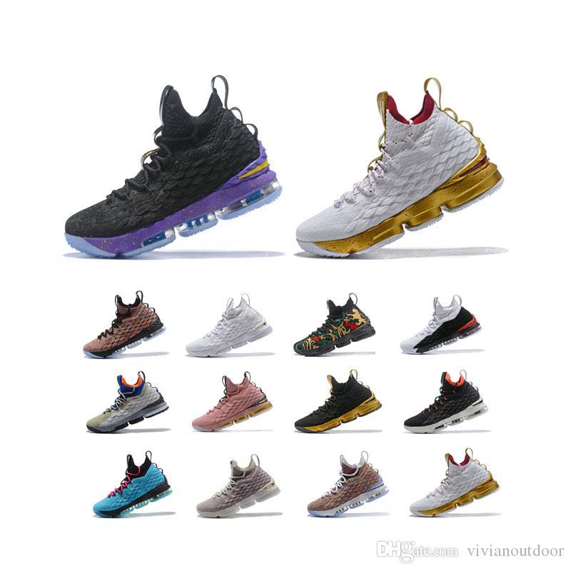 2020 جودة عالية مصمم أحذية الرجل basketballl الخامس عشر ثلاثية الرياضية أبيض أسود الاحذية يندون جونسون المدربين اكير الأحذية