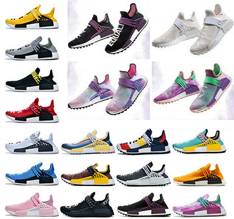 Commercio all'ingrosso razza umana pattini correnti degli uomini Donne Pharrell Williams X Sport sentiero HU solari corridore scarpe da ginnastica 36-47
