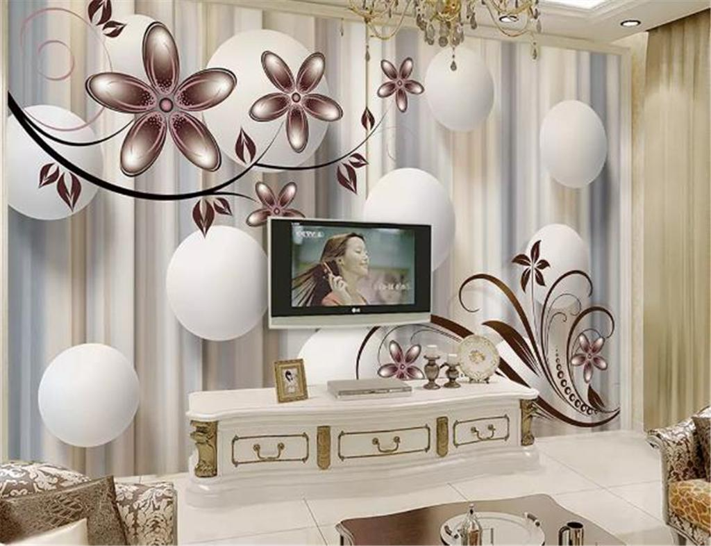 Custom Photo 3d Wallpape Modern Fashion Sense 3d Spherical Flower TV Background Wall Decoration Mural Wallpaper