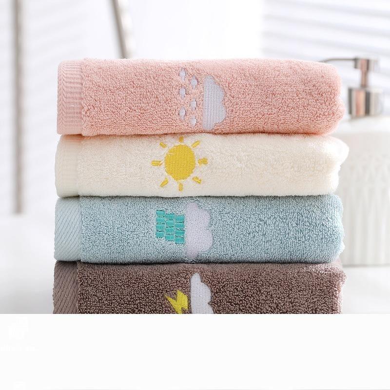 % 100 Pamuk Hava Mood Havlu Yetişkinler Yaratıcı Kalın Rapid Kurutma Saç Havlu Yumuşak Ev Tekstil Havlu Yağışlı Güneşli Kar için