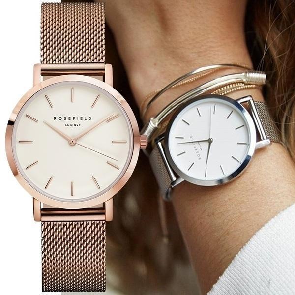 l'ultimo 570ed 65d09 Acquista Luxury Watch ROSEFIELD Orologio Da Donna In Acciaio Inossidabile  Con Cinturino Al Quarzo Orologio Da Polso Uomo Luxury Da Donna Impermeabile  ...
