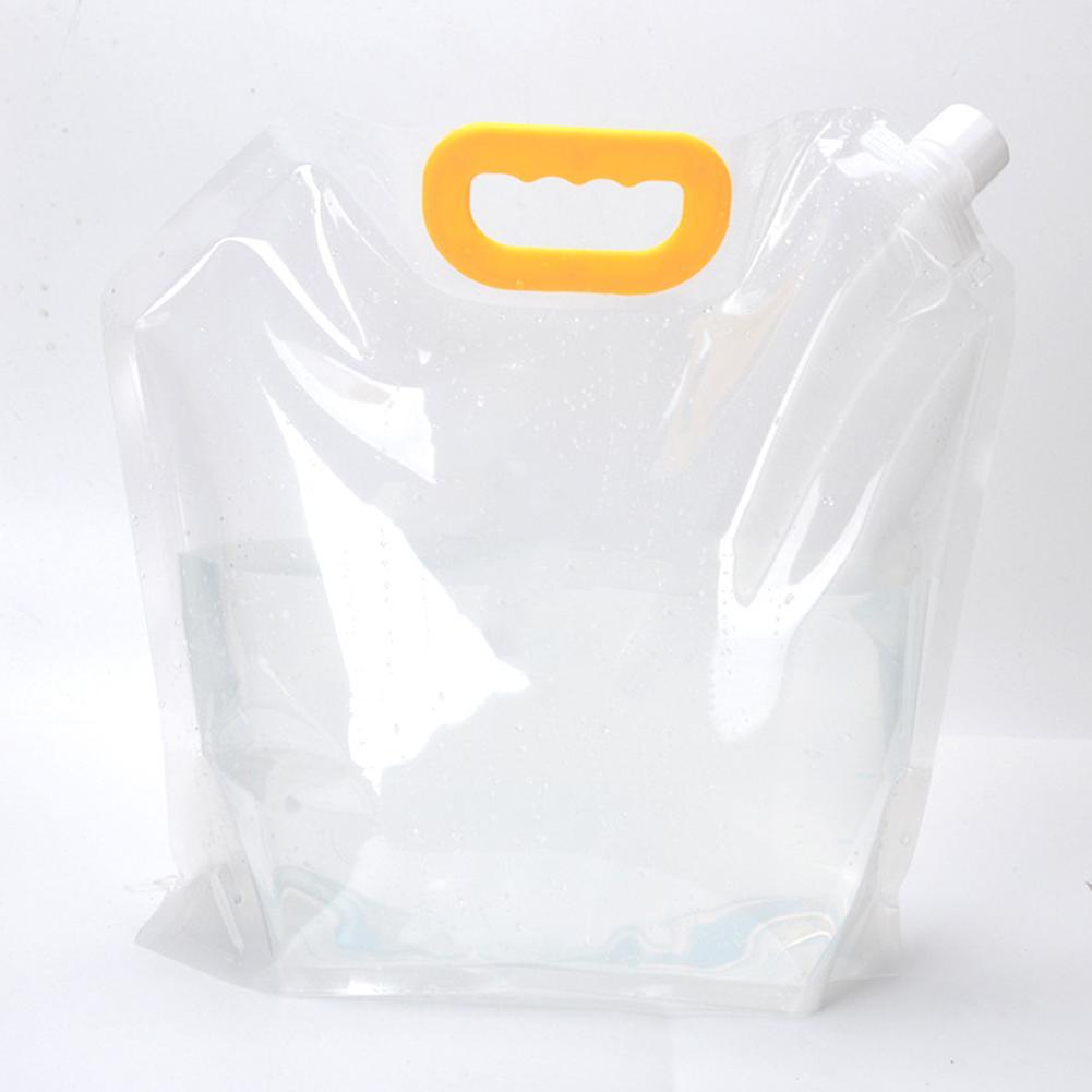 Plegable de la supervivencia al aire libre 3L que acampan yendo portátil de elevación Easy Clean reutilizable bolsa de almacenamiento de agua