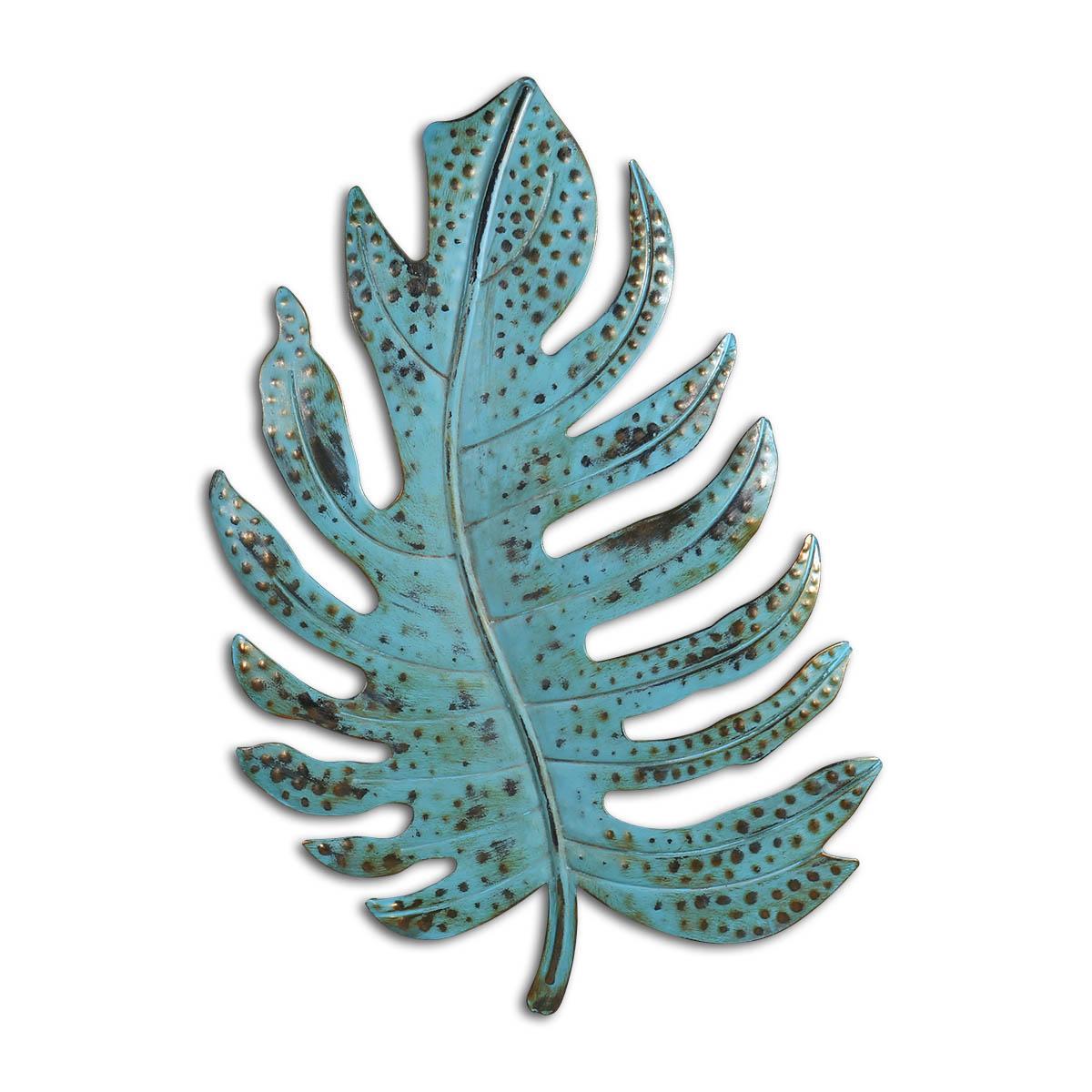 Green Leaf décorations Feuille métal mur Art Sculpture Vintage rustique Accueil Décor du foyer de vie Décoration Ornement de fer