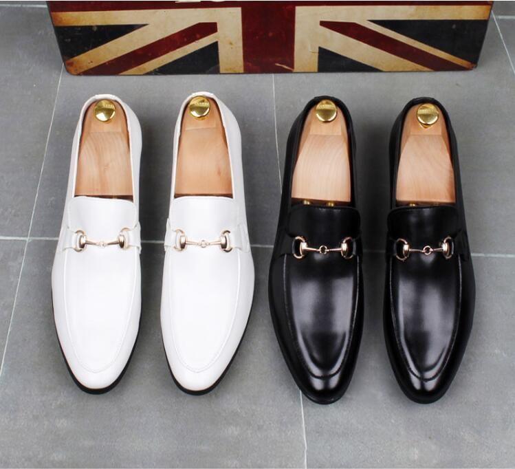 Новая искусственная кожа Повседневная Driving Oxfords партии Flats обуви мужские Мокасины Мокасины Итальянские мужчины Свадебная обувь