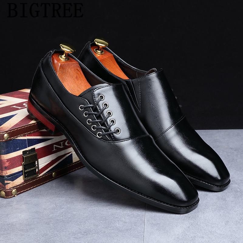 chaussures de mariage pour les hommes 2019 chaussures de marque hommes italiens oxford cuir formel pour grande taille sapato coiffeur italiano bonne