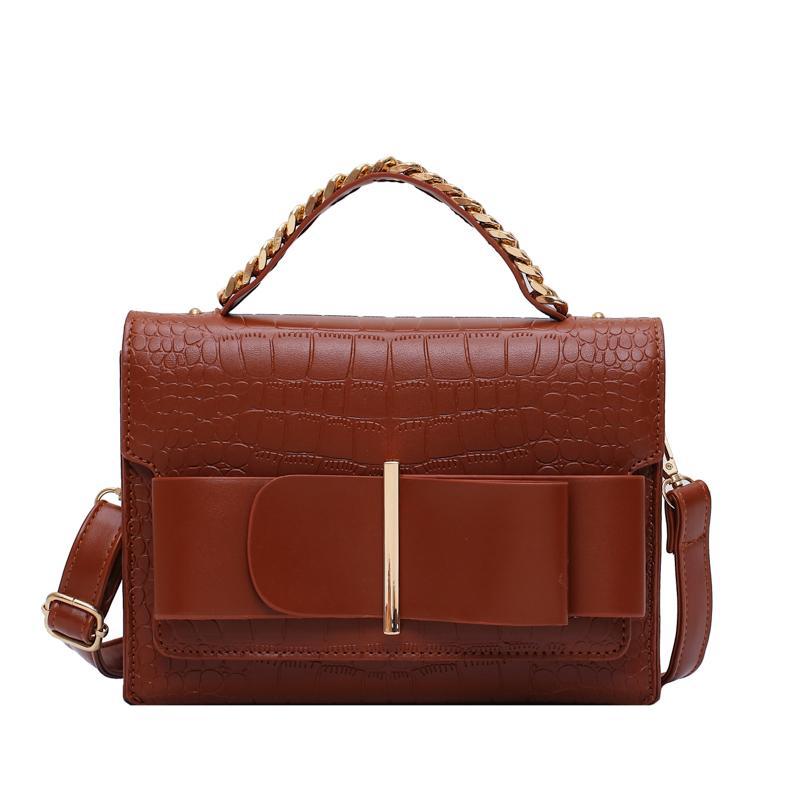 Mode Vintage Femme sac fourre-tout 2019 neuf de haute qualité à main modèle Crocodile femmes en cuir d'épaule Messenger Bag