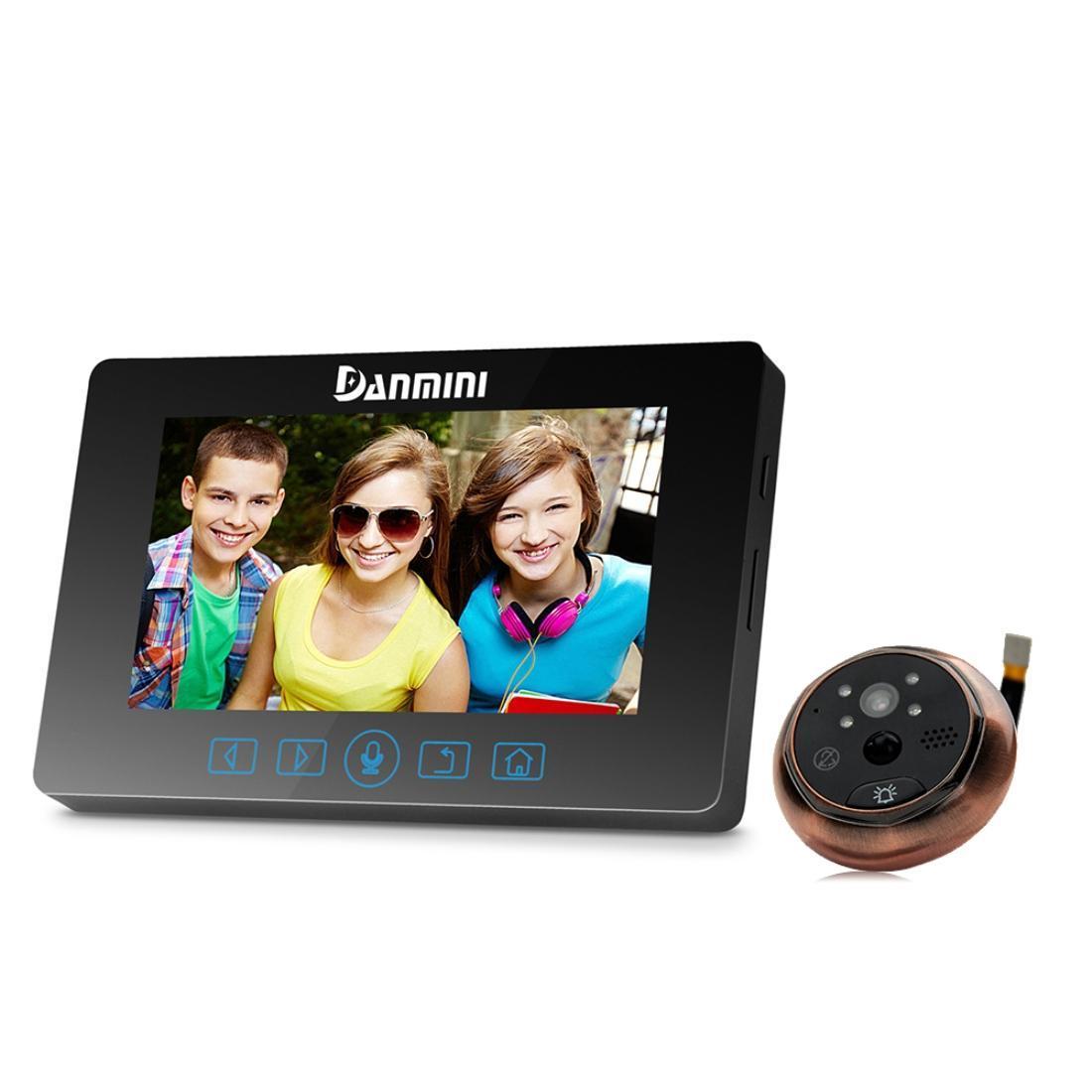 Danmini YB-43HD-MT 4.3 بوصة شاشة 3.0mp كاميرا أمنية لا إزعاج ثقب الباب العارض الرقمية ثقب الباب جرس الباب مع مفاتيح اللمس، دعم nigh