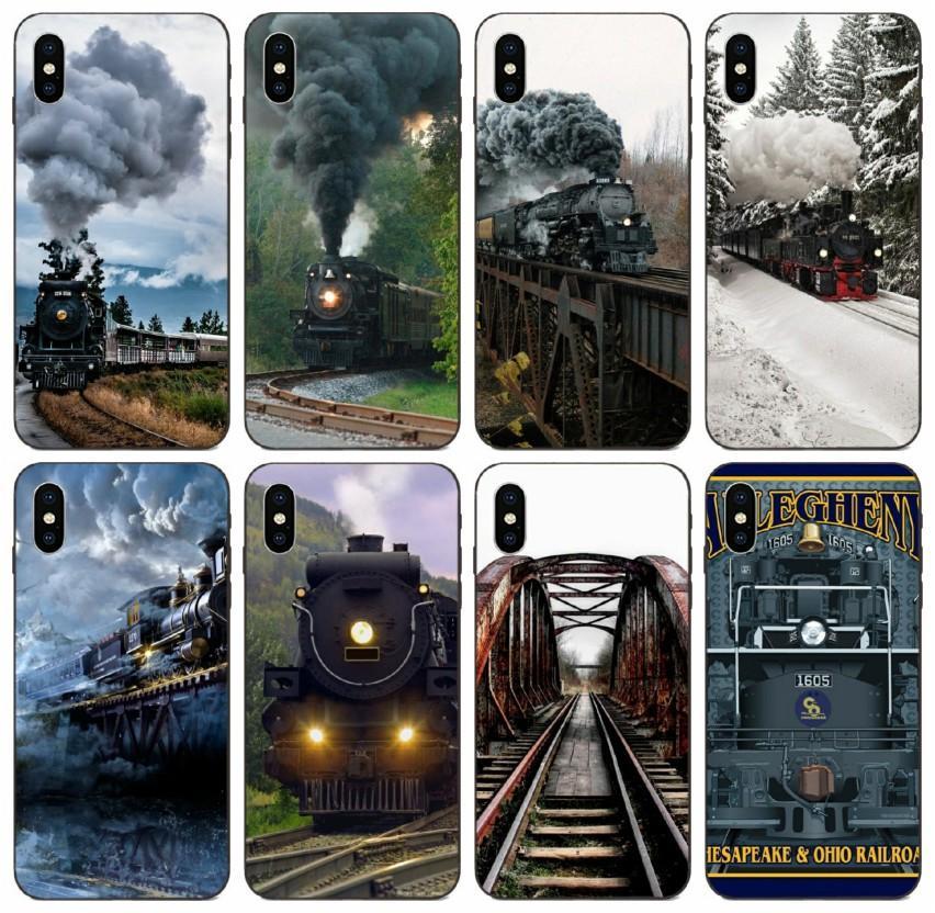 [TongTrade] Vintage Zug-Bahnreise-Plakat-Kasten für Apple iPhone 11 Pro X Xs Max 8 7 6 5 Galaxy S10 S9 Huawei P9 Motorola Moto G5 Fall