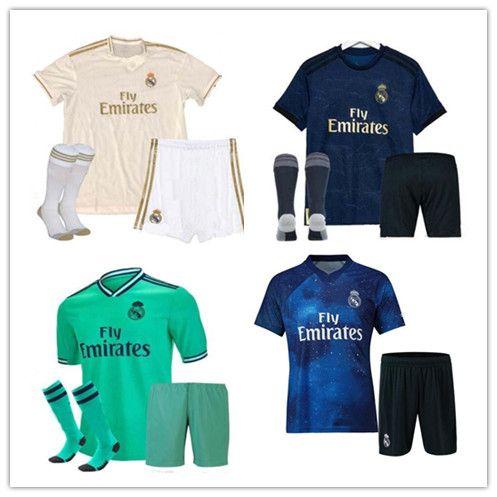 Acquista 2019 2020 Real Madrid Maglie Da Calcio Di Alta Qualità 19 20 Uomini MODRIC ASENSIO VINICIUS JR BALE EA Divise Della Maglia Di Calcio Sport ...