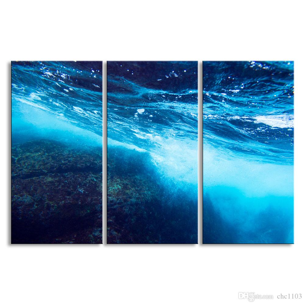 3 pieces of HD print submarine surface canvas painting poster and wall art living room picture HDBM3-1D