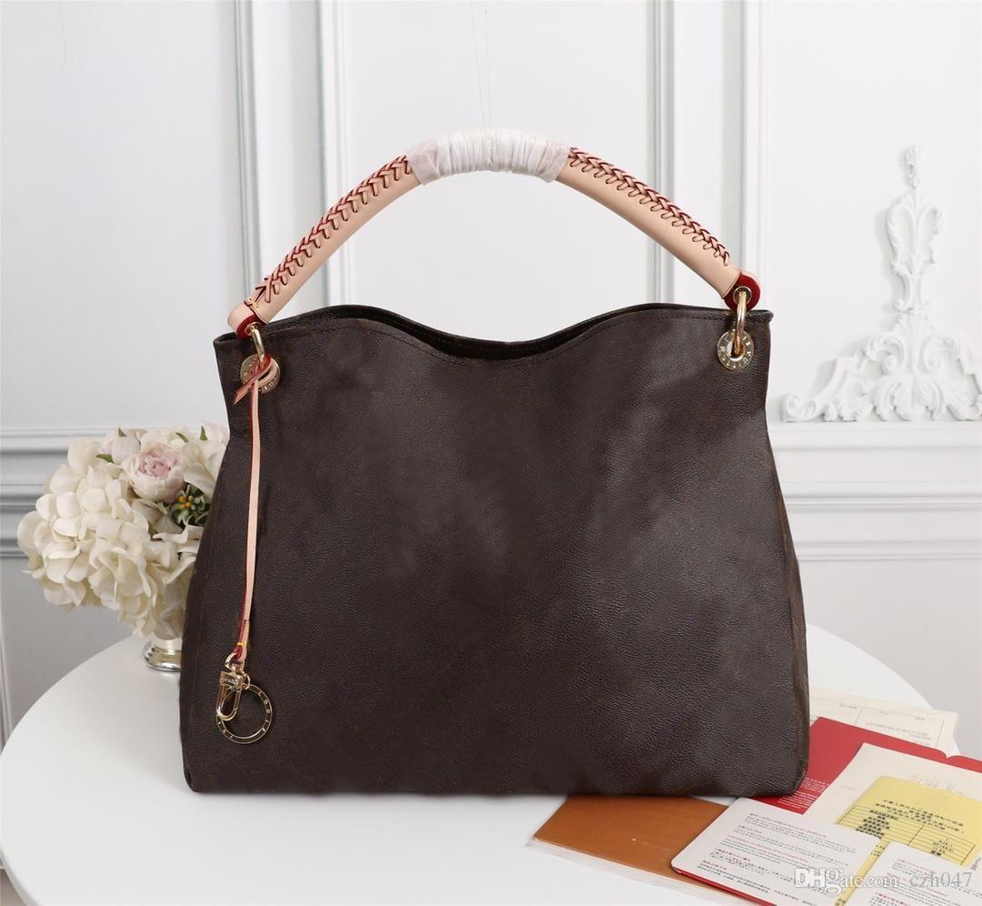 Neueste Frauen arbeiten Art-echtes Leder-Stickerei-Handtaschen-Schulter-Beutel Handtasche Totes Umhängetasche N40249
