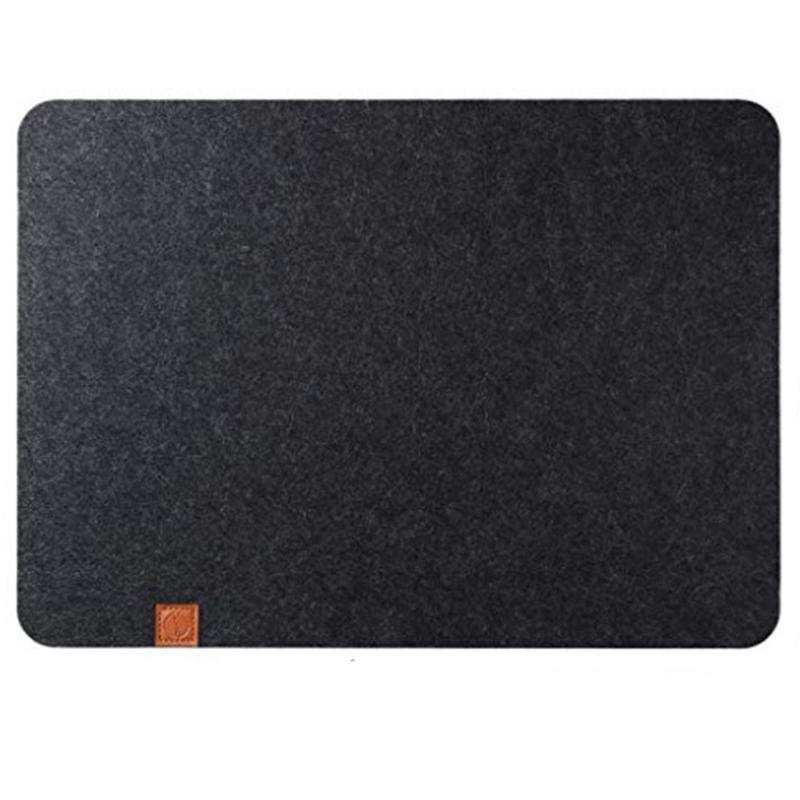 Beau-feltro Placemat 6 Piece Set Mat Black-Quadro pode ser apagado 45X32 Cm-lavável Placemat-Jantar de feltro Pad
