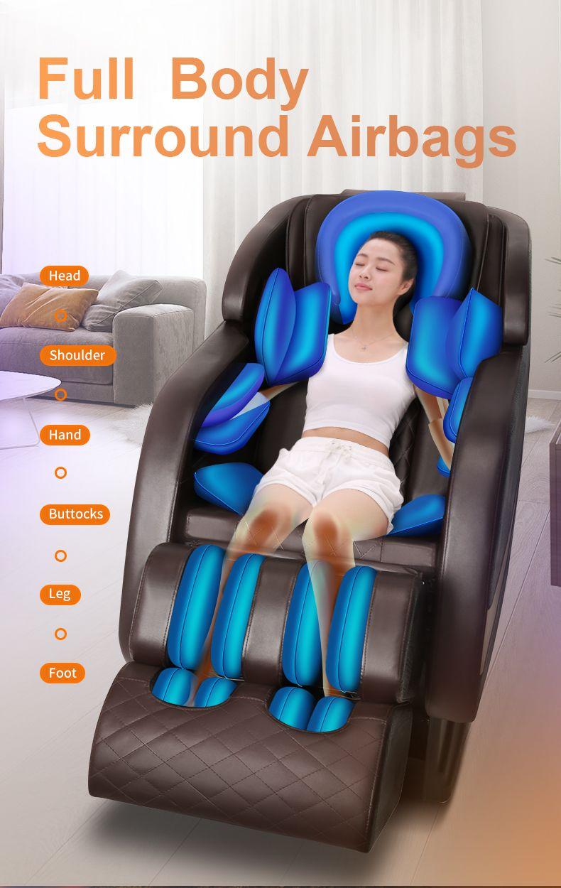 A7 Massage Chair Wholesale Factory Price Luxury 4D Zero Gravity Shiatsu Roller Electric Kneading Back Vibration Full Body