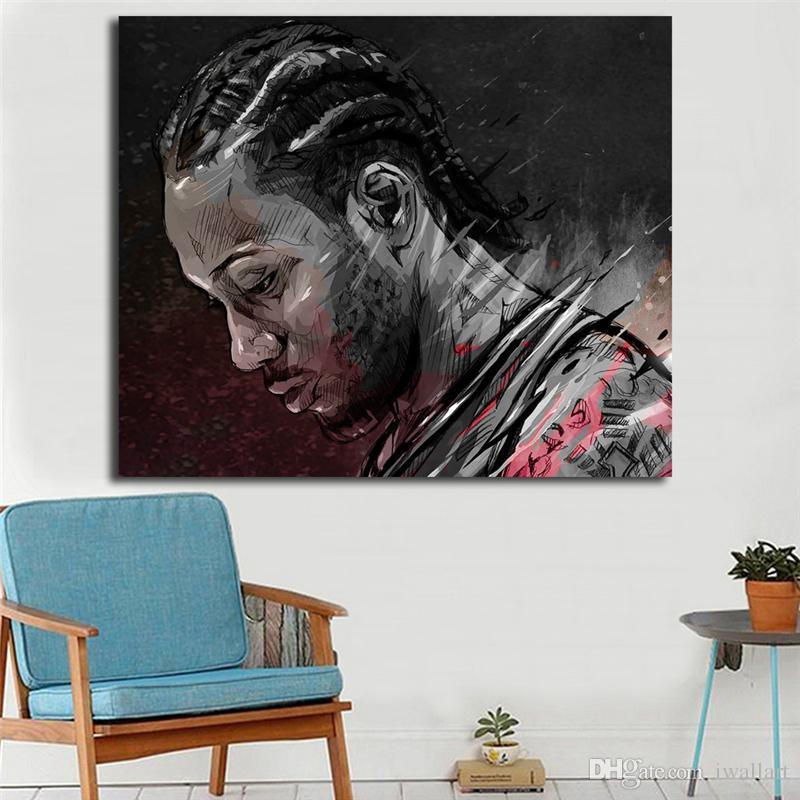 Kawhi Leonard Basketbol Oyuncu Illüstrasyon Yann Dalon Tuval Posterler Baskılar Duvar Sanatı Resim Dekoratif Resim Modern Ev Dekorasyon